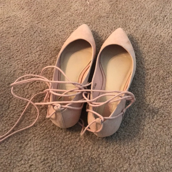 Forever 21 Shoes | Light Pink Lace Up